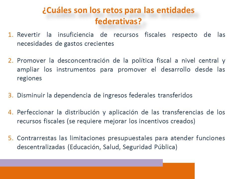 ¿Cuáles son los retos para las entidades federativas