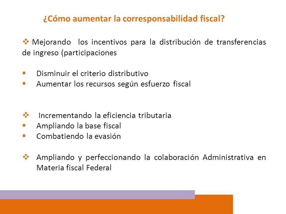 ¿Cómo aumentar la corresponsabilidad fiscal