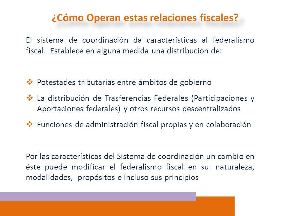 ¿Cómo Operan estas relaciones fiscales