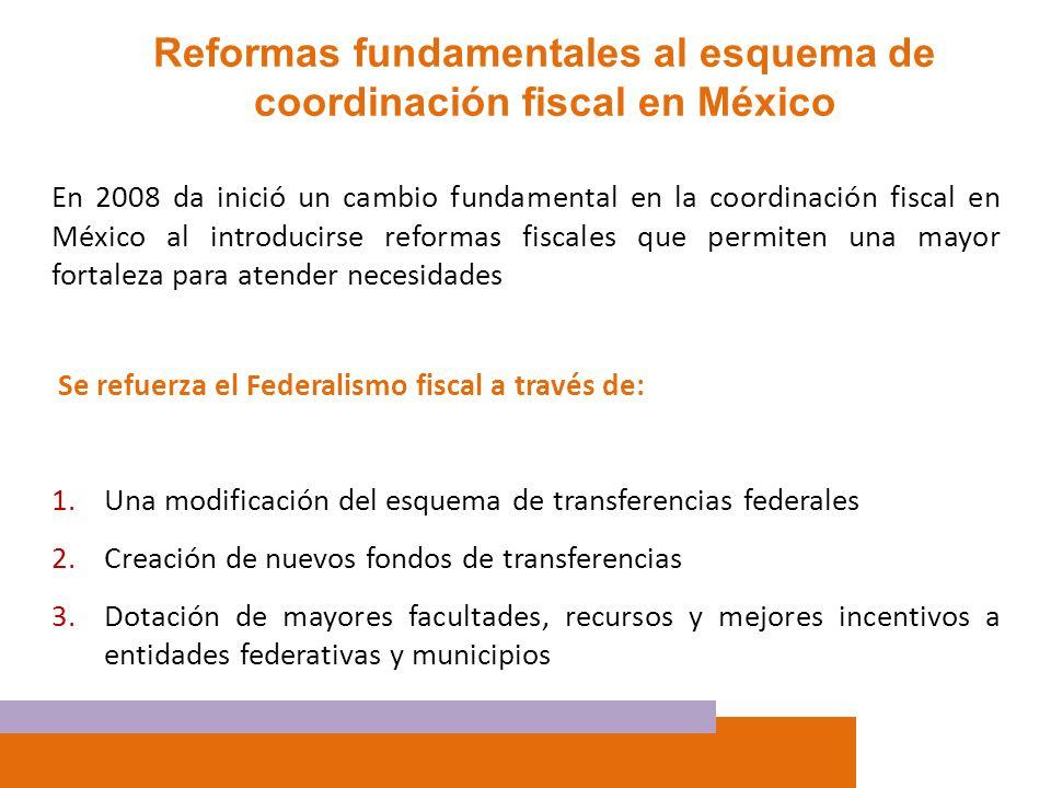 Reformas fundamentales al esquema de coordinación fiscal en México