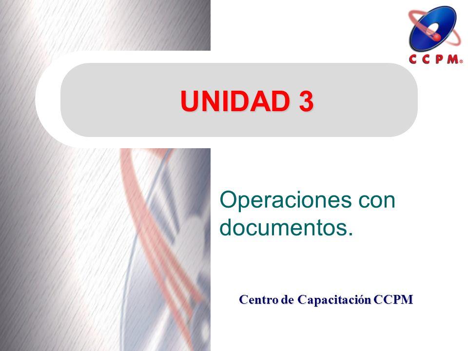 Operaciones con documentos.
