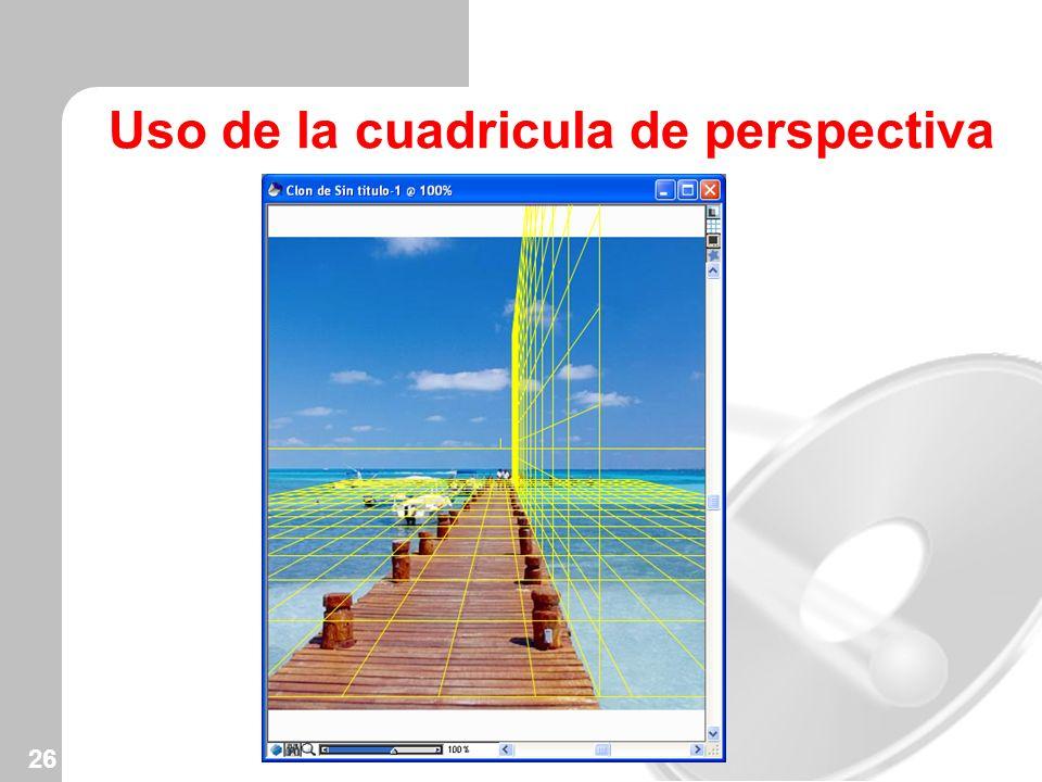 Uso de la cuadricula de perspectiva