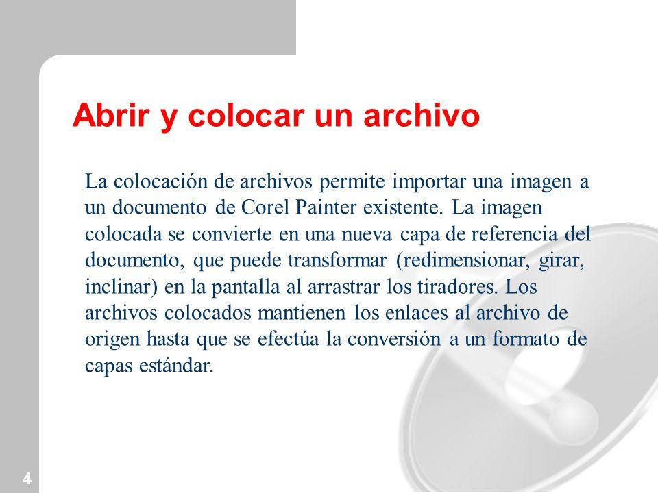 Abrir y colocar un archivo