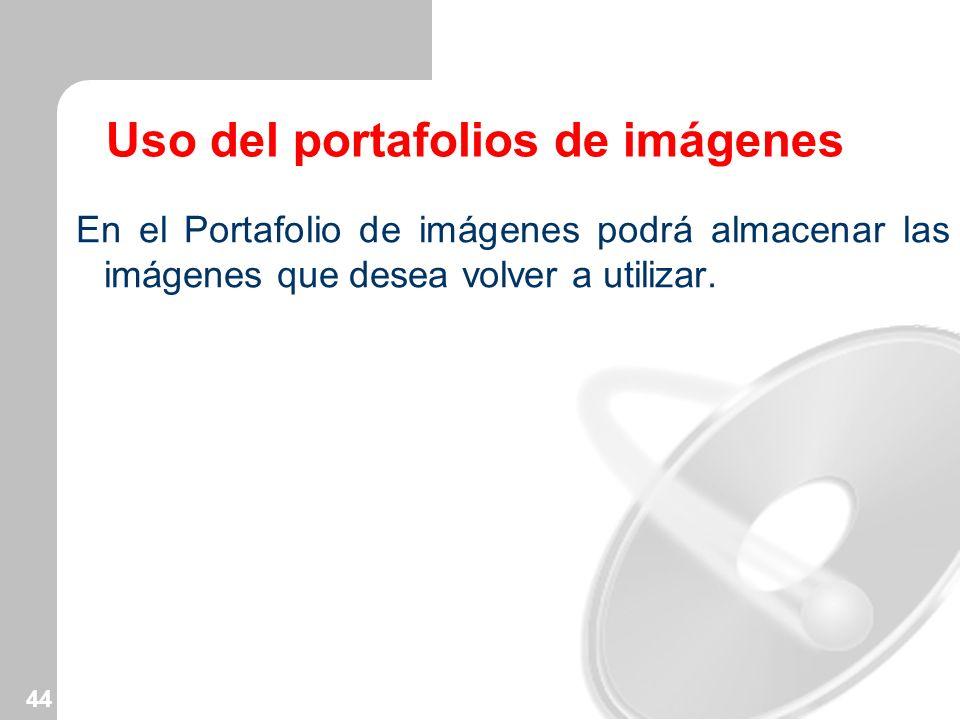 Uso del portafolios de imágenes