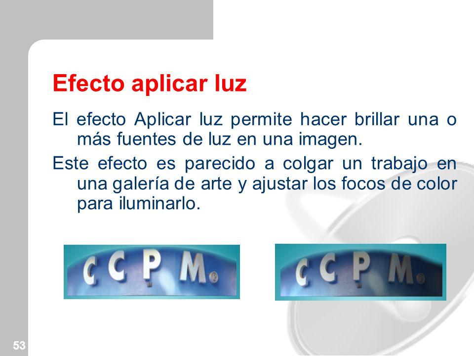 Efecto aplicar luz El efecto Aplicar luz permite hacer brillar una o más fuentes de luz en una imagen.