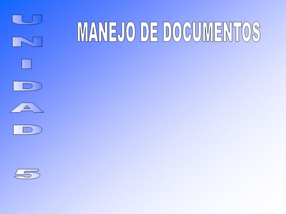 MANEJO DE DOCUMENTOS UNIDAD 5