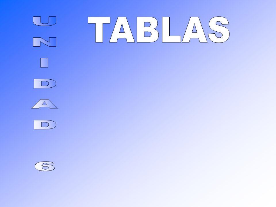 TABLAS UNIDAD 6