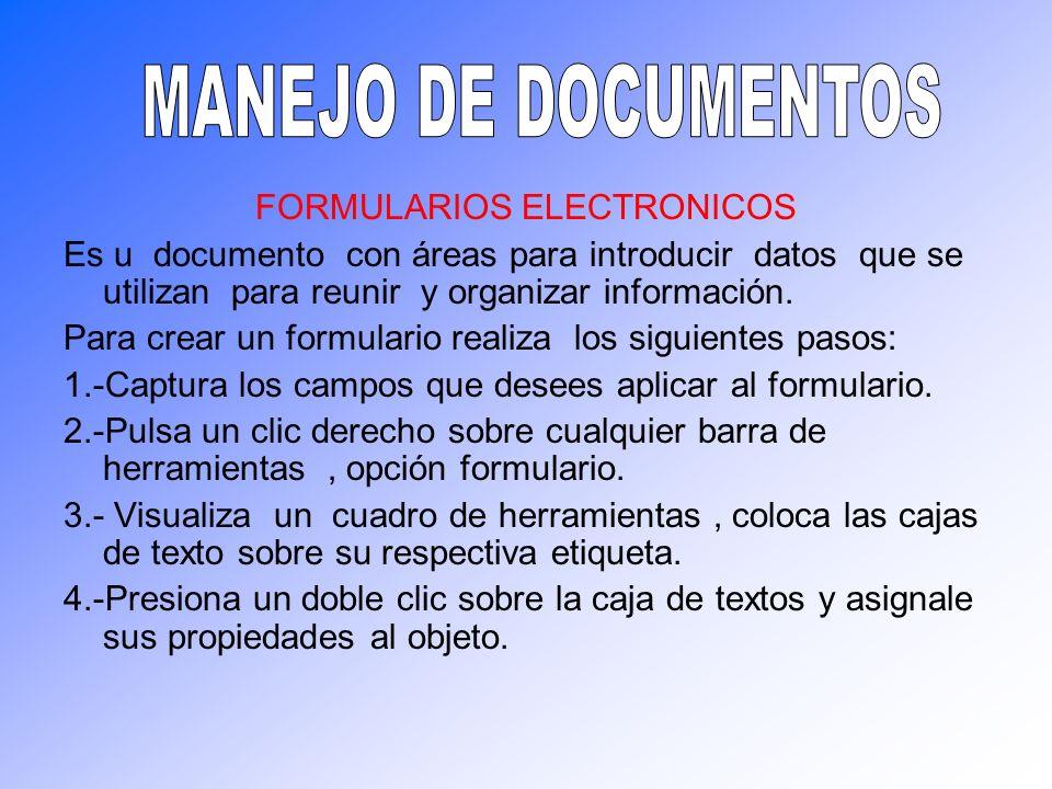 FORMULARIOS ELECTRONICOS