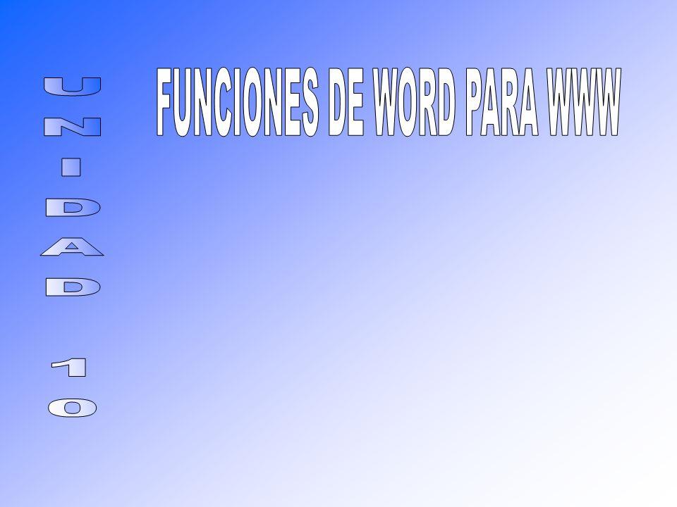 FUNCIONES DE WORD PARA WWW