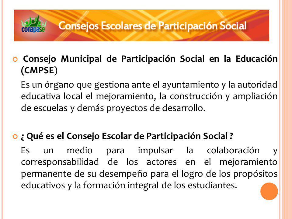 Consejo Municipal de Participación Social en la Educación (CMPSE)