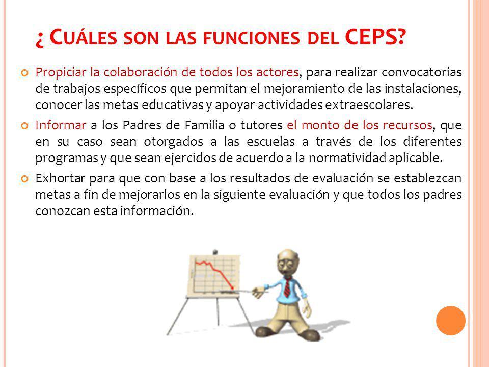 ¿ Cuáles son las funciones del CEPS