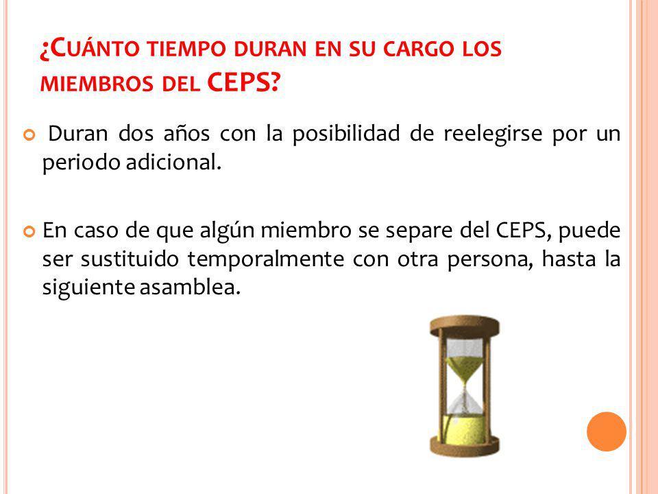 ¿Cuánto tiempo duran en su cargo los miembros del CEPS