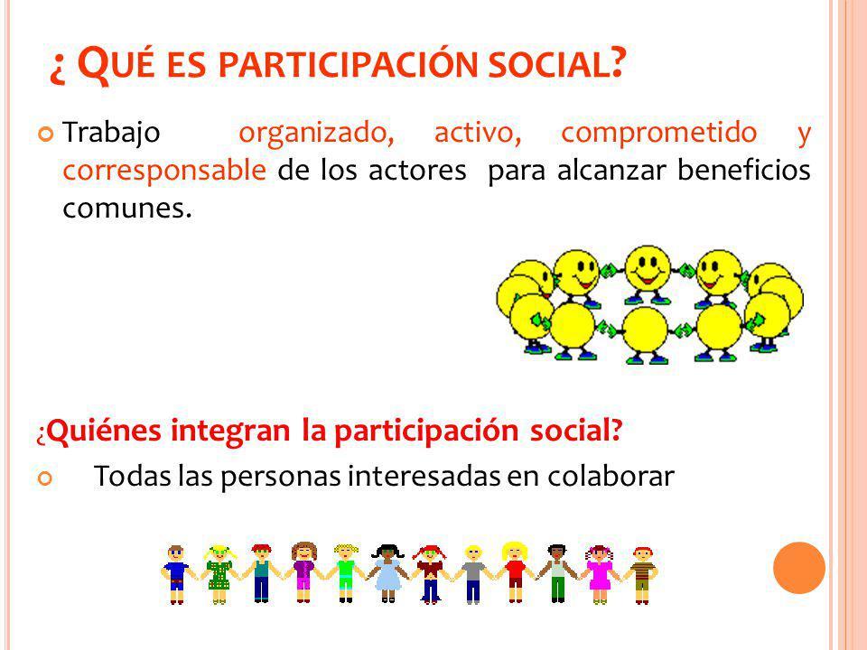¿ Qué es participación social