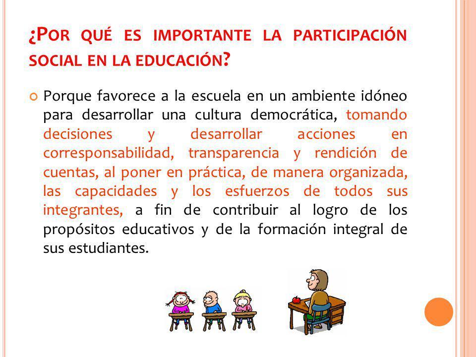 ¿Por qué es importante la participación social en la educación