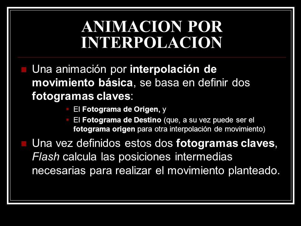 ANIMACION POR INTERPOLACION