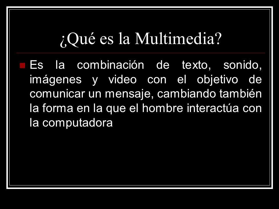 ¿Qué es la Multimedia