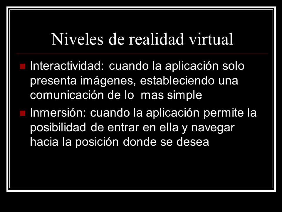 Niveles de realidad virtual
