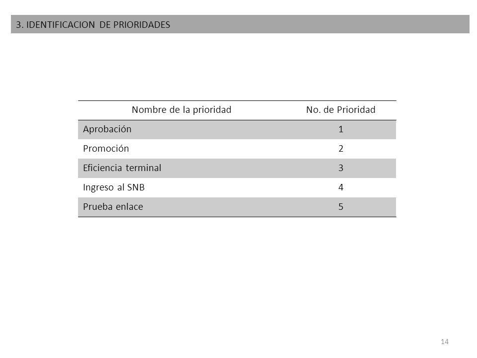 3. IDENTIFICACION DE PRIORIDADES
