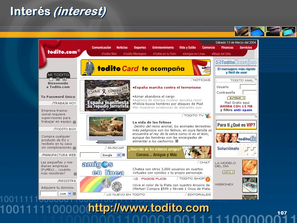 Interés (interest) http://www.todito.com