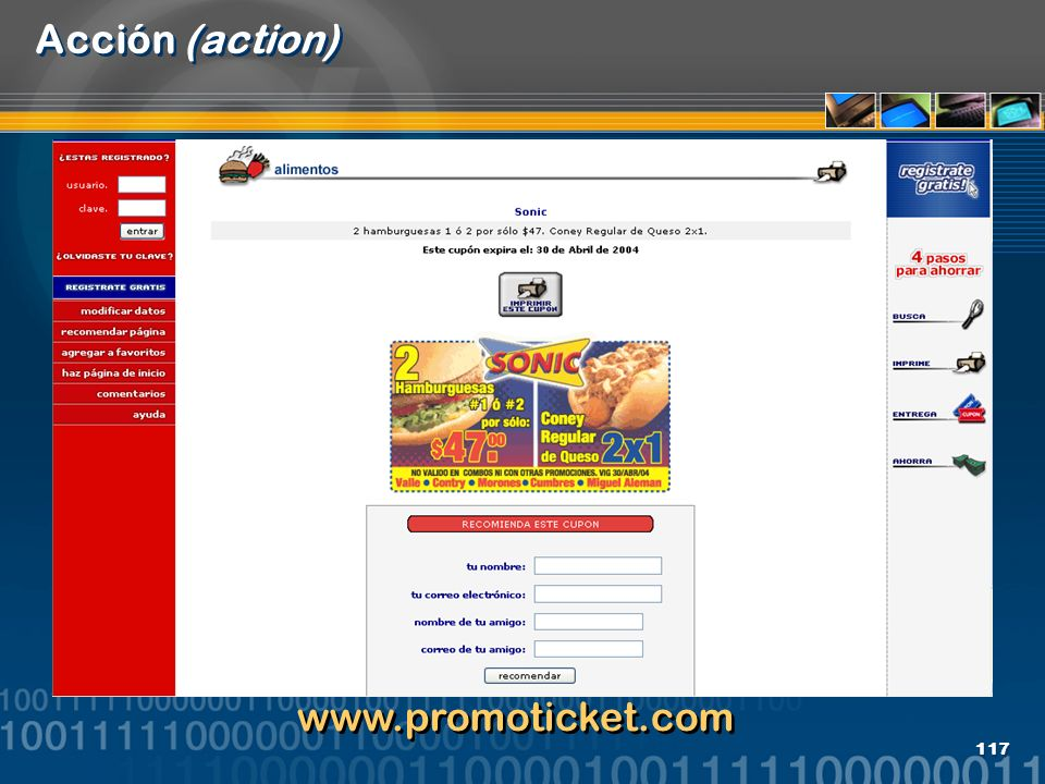 Acción (action) www.promoticket.com