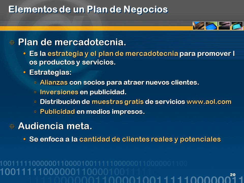 Elementos de un Plan de Negocios