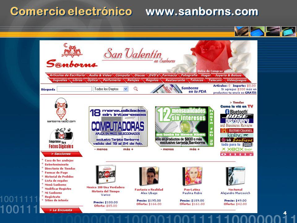 Comercio electrónico www.sanborns.com