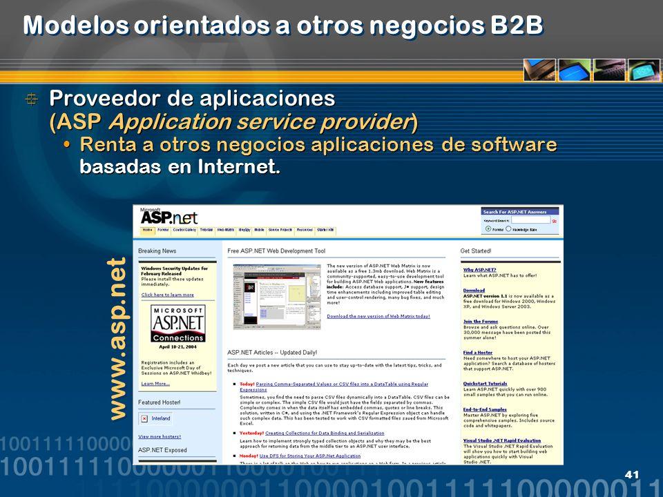 Modelos orientados a otros negocios B2B