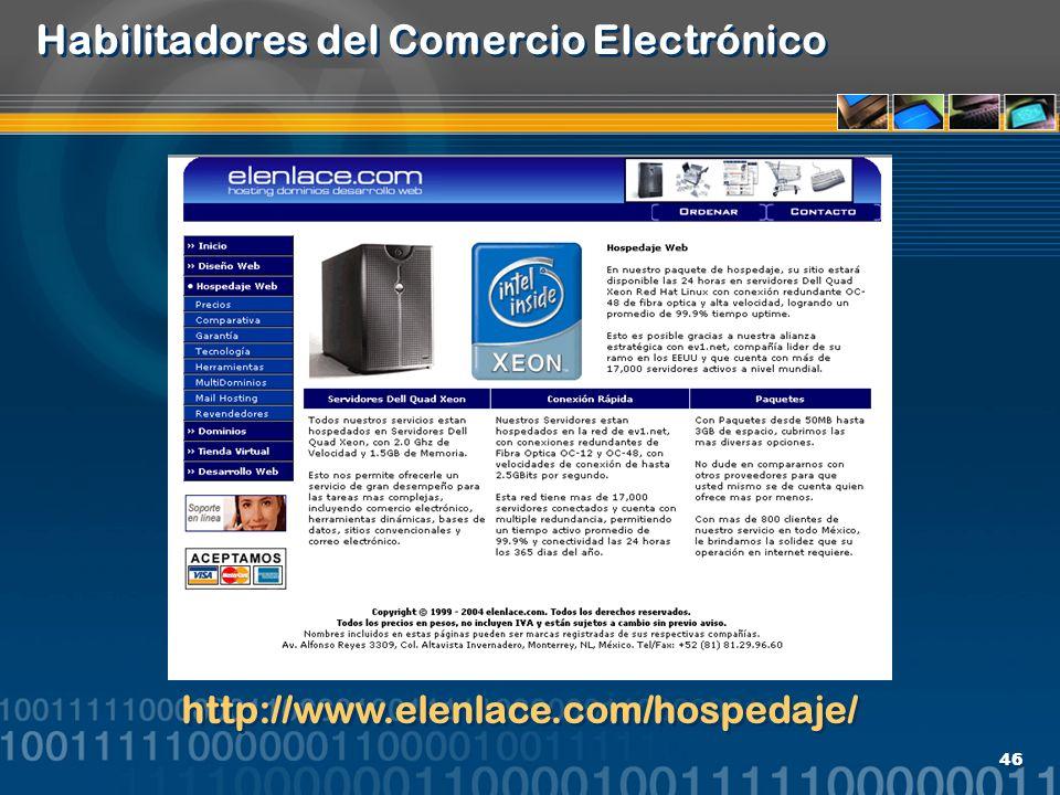 Habilitadores del Comercio Electrónico