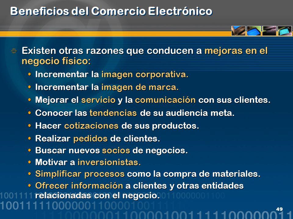 Beneficios del Comercio Electrónico
