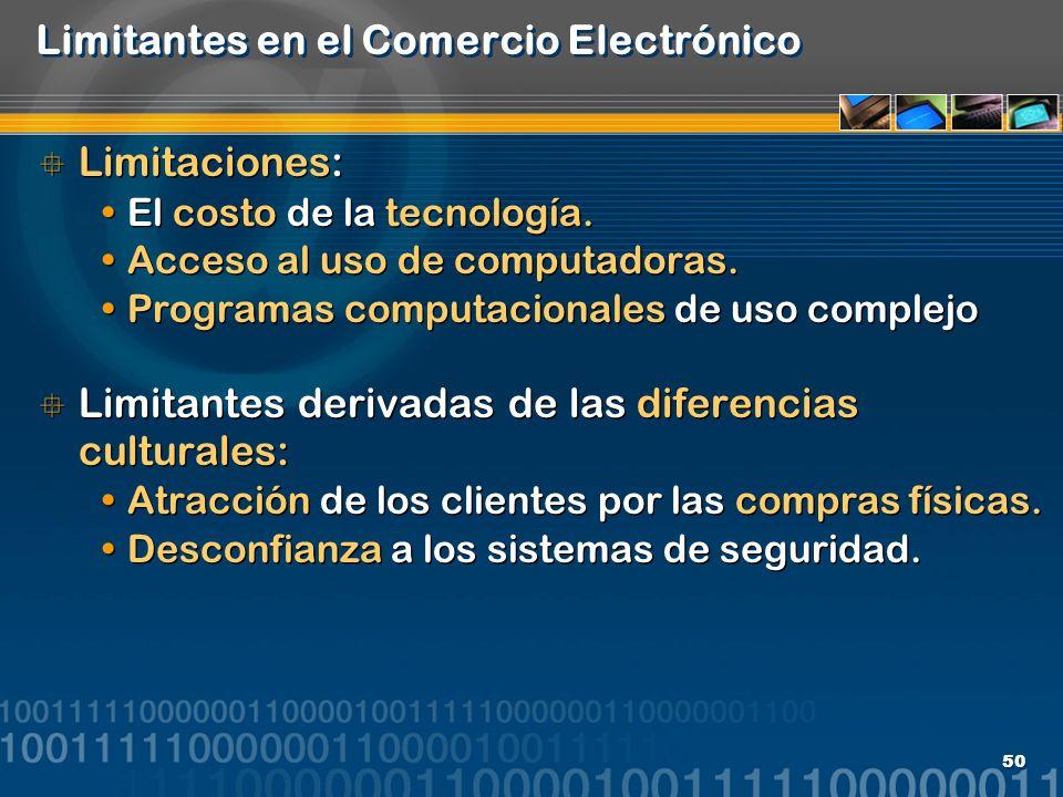 Limitantes en el Comercio Electrónico