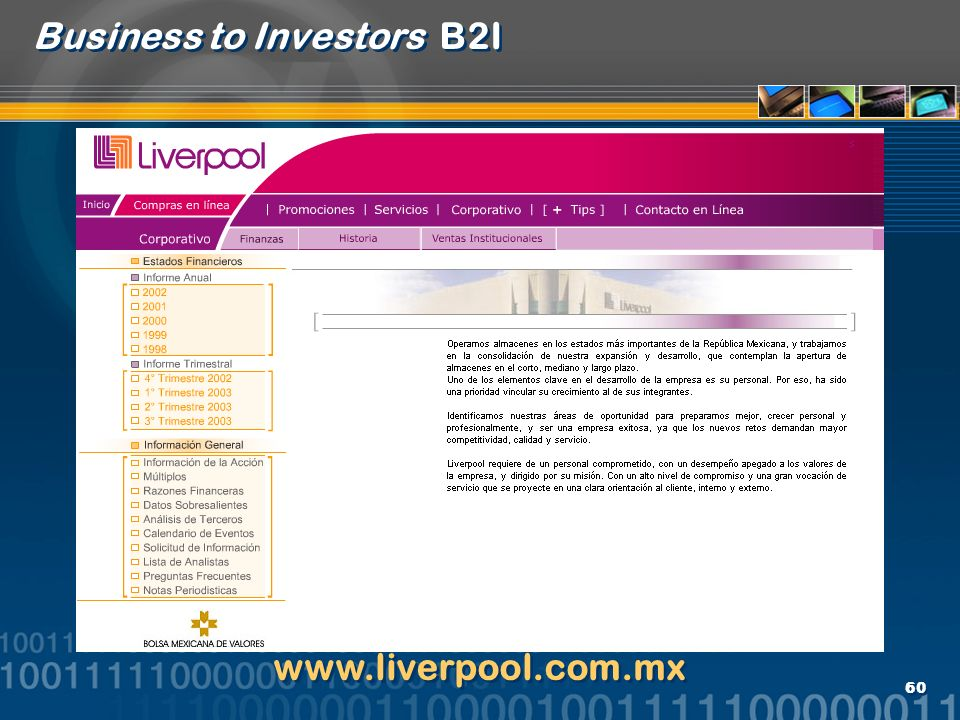 Business to Investors B2I
