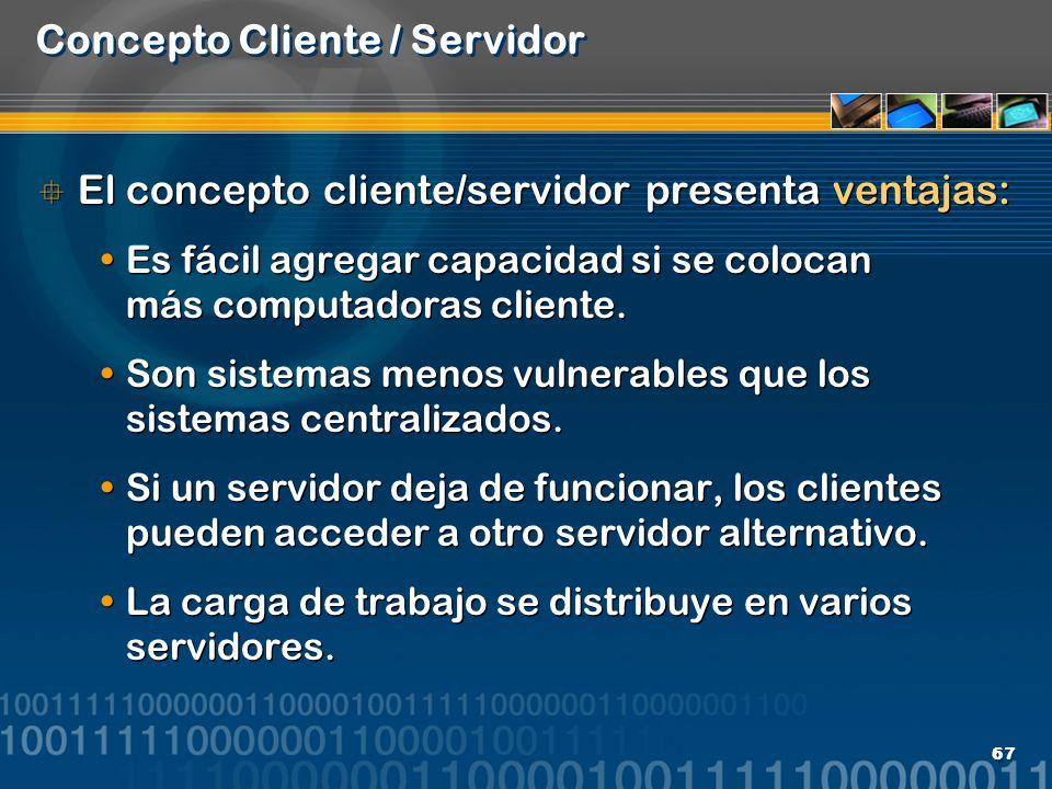 Concepto Cliente / Servidor