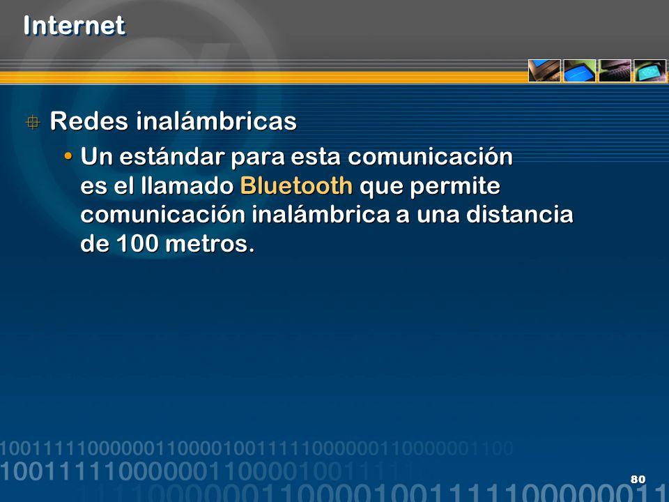 Internet Redes inalámbricas