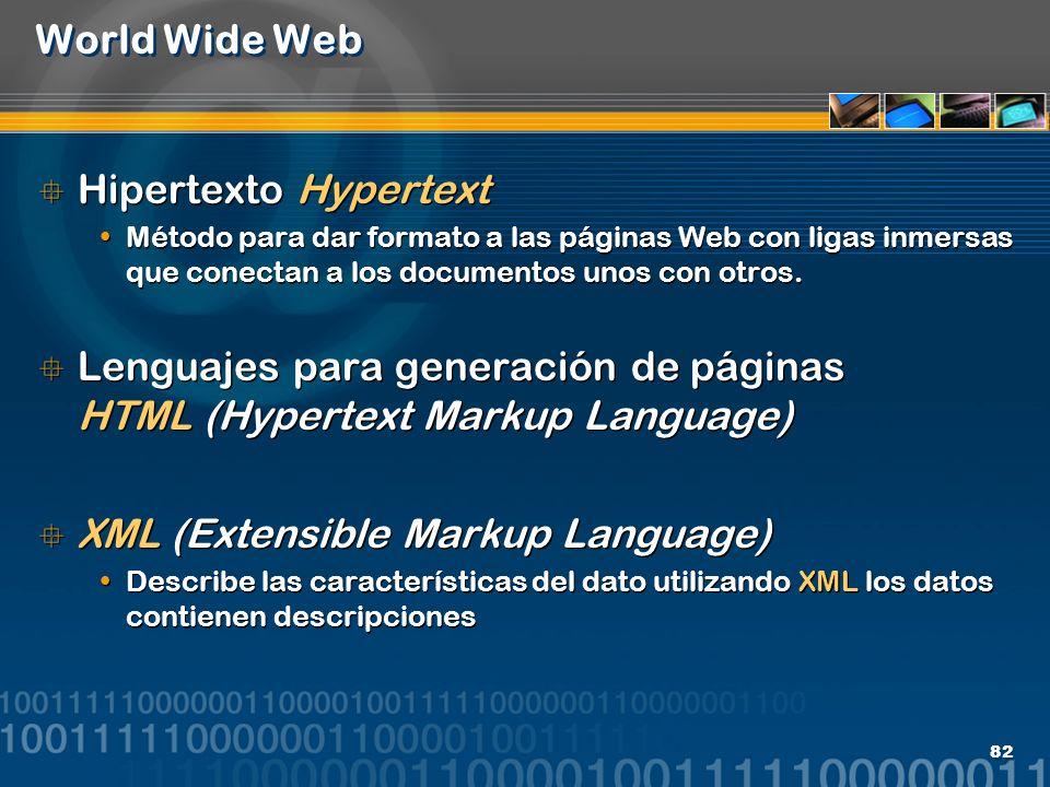 Lenguajes para generación de páginas HTML (Hypertext Markup Language)