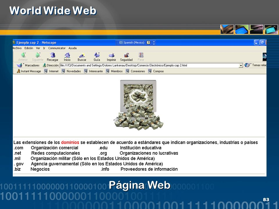 World Wide Web Página Web