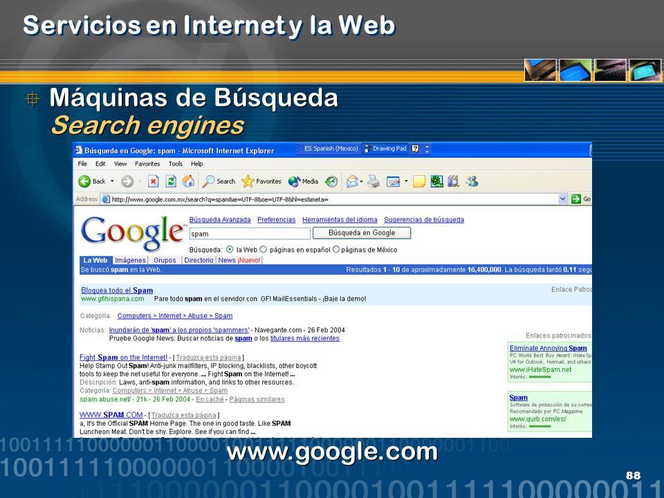 Servicios en Internet y la Web