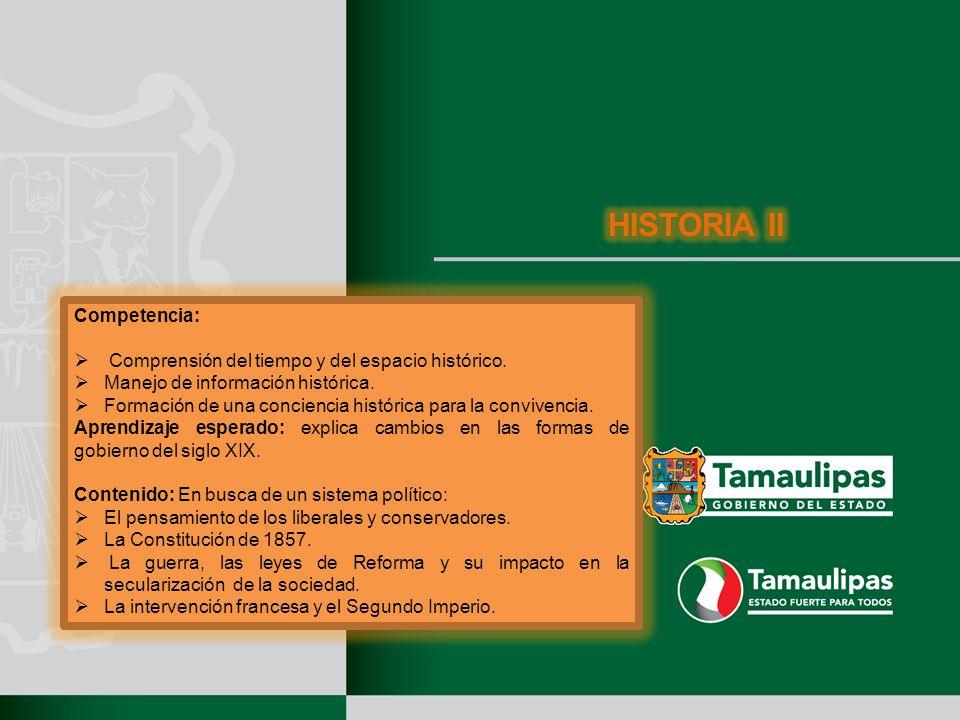HISTORIA II Competencia: