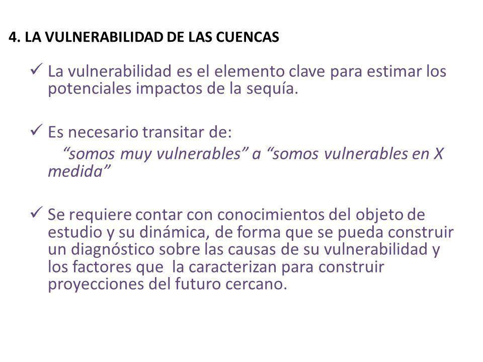 4. LA VULNERABILIDAD DE LAS CUENCAS