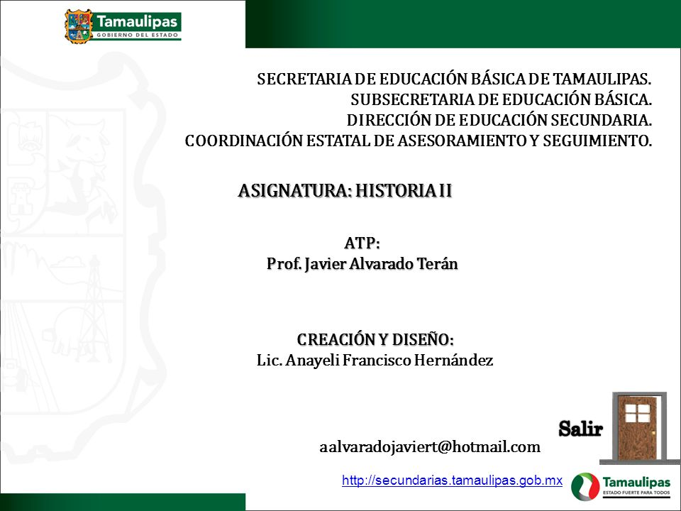 ASIGNATURA: HISTORIA II Lic. Anayeli Francisco Hernández