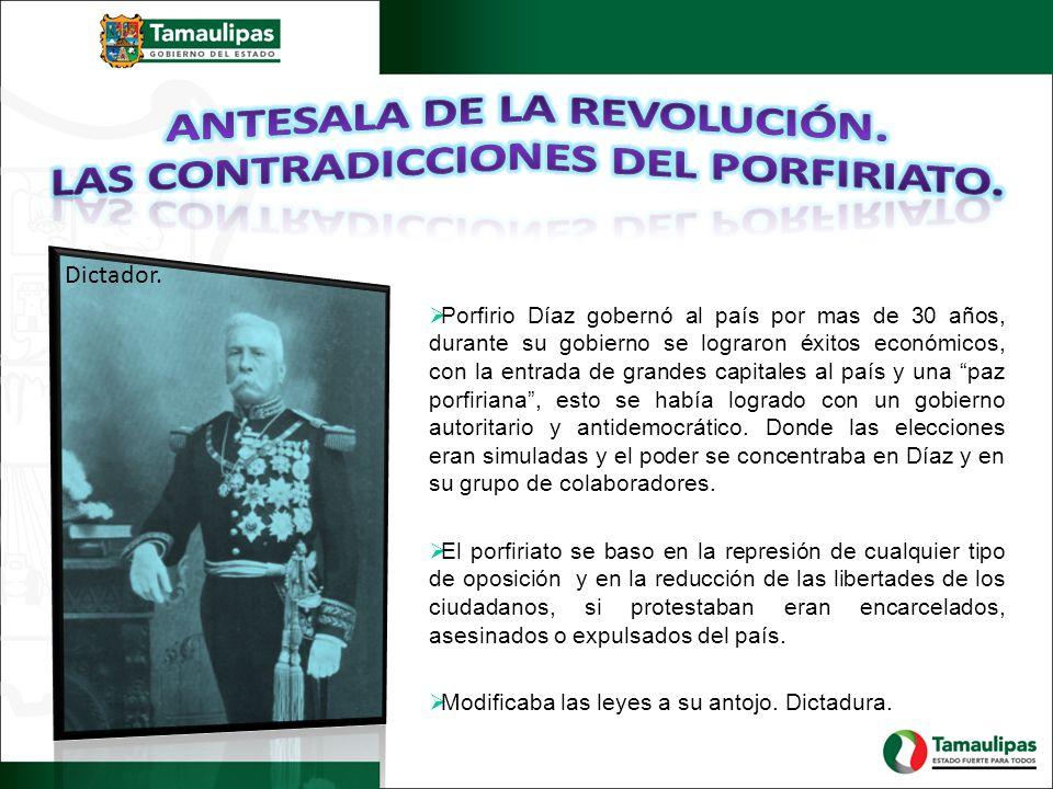 Antesala de la revolución. Las contradicciones del porfiriato.