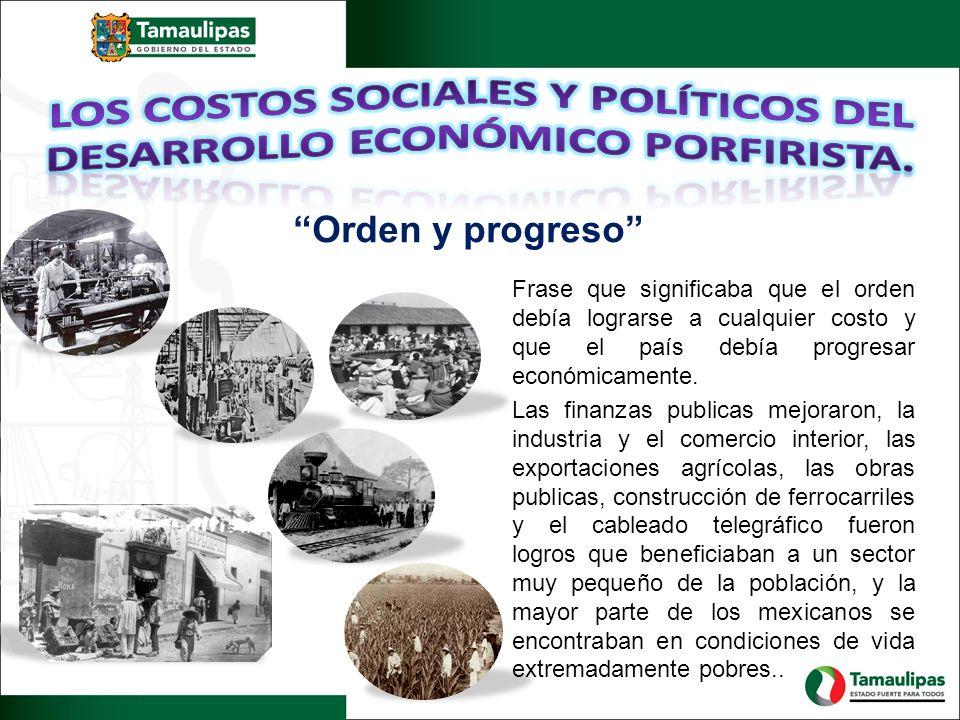 Los costos sociales y políticos del desarrollo económico porfirista.