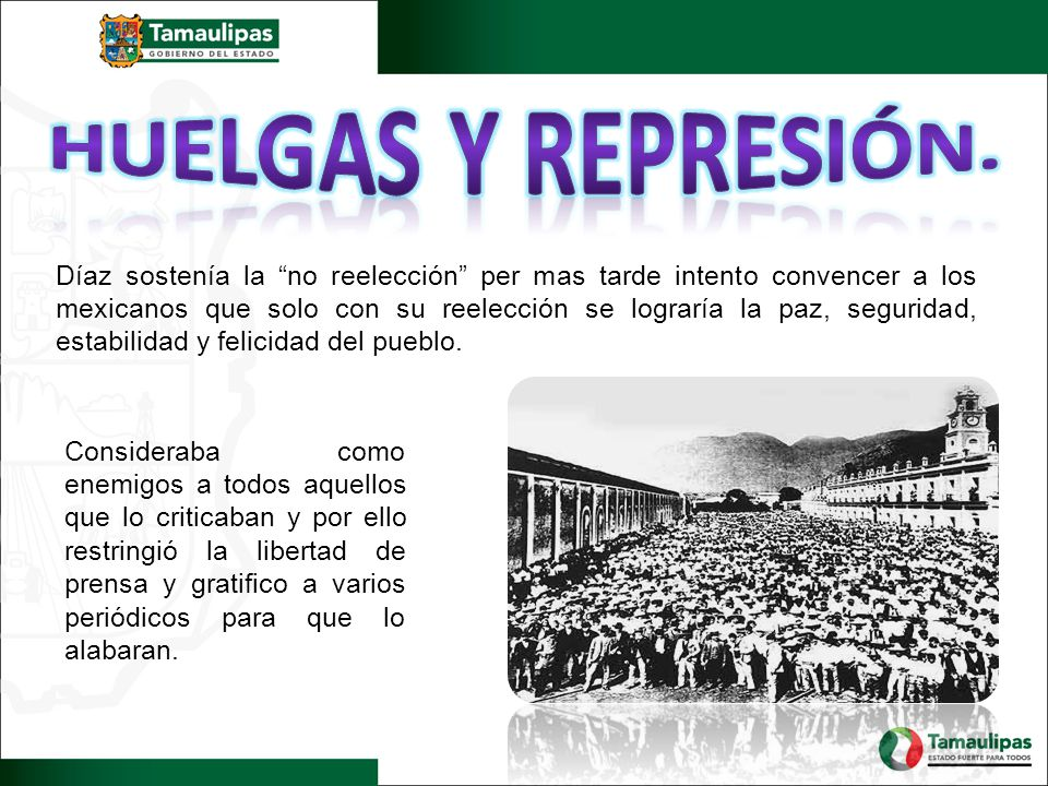 Huelgas y represión.