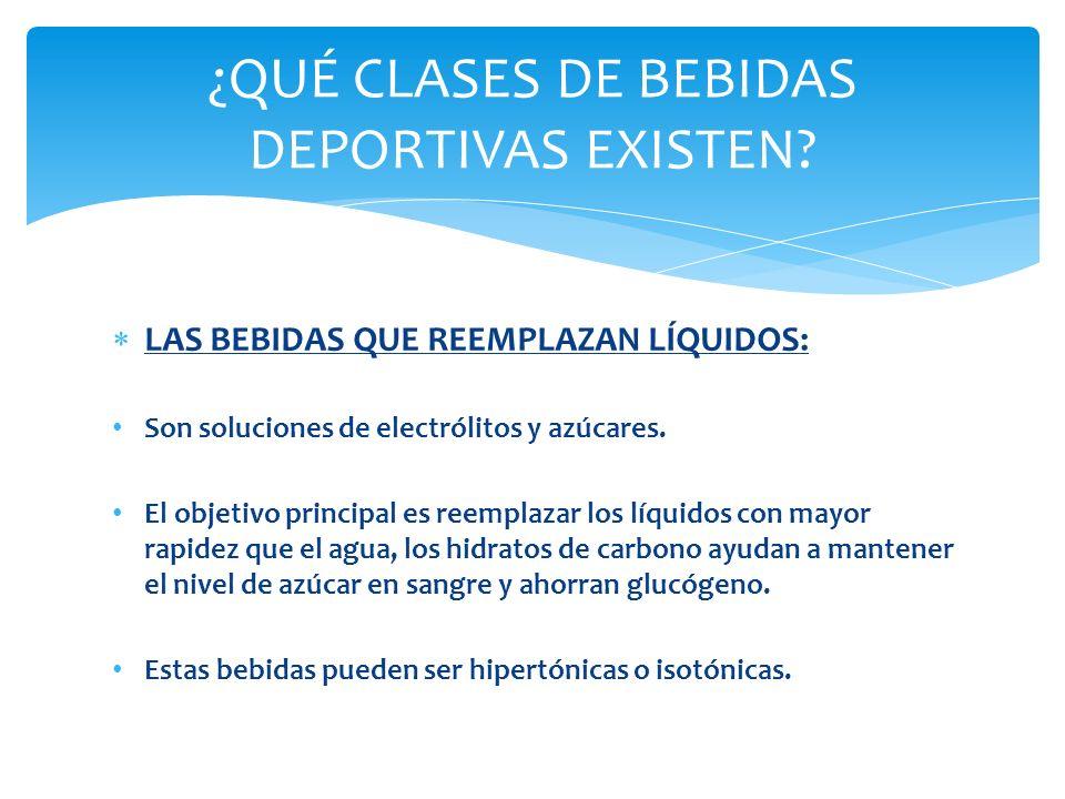 ¿QUÉ CLASES DE BEBIDAS DEPORTIVAS EXISTEN