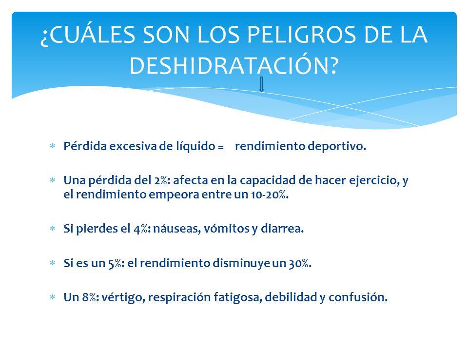 ¿CUÁLES SON LOS PELIGROS DE LA DESHIDRATACIÓN