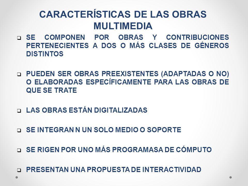 CARACTERÍSTICAS DE LAS OBRAS MULTIMEDIA
