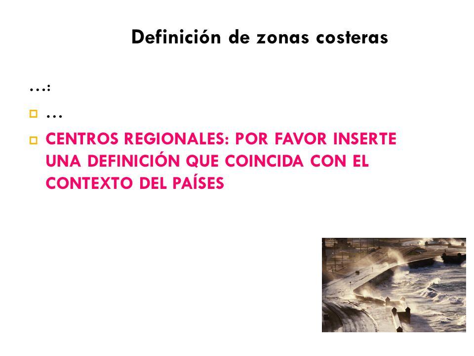 Definición de zonas costeras