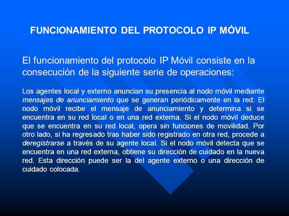 FUNCIONAMIENTO DEL PROTOCOLO IP MÓVIL