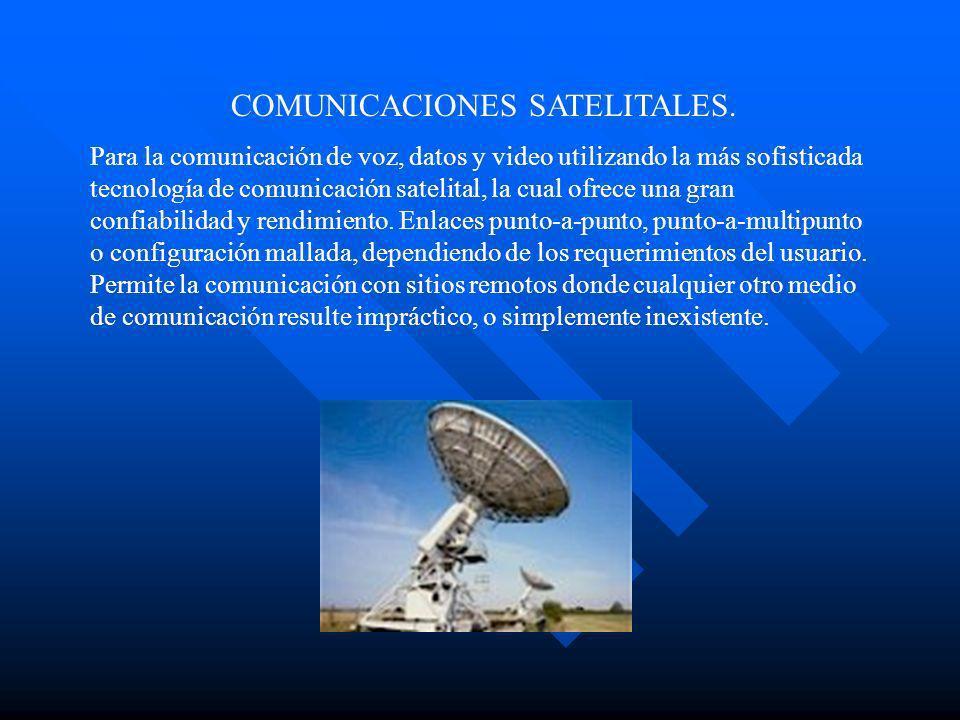 COMUNICACIONES SATELITALES.