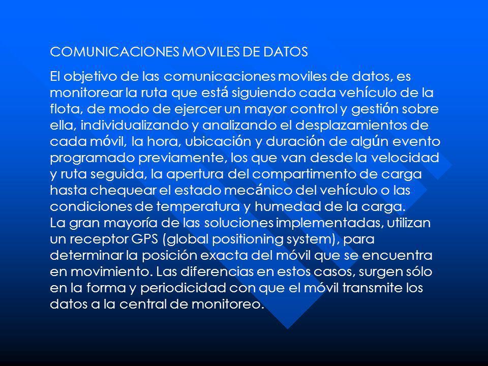 COMUNICACIONES MOVILES DE DATOS