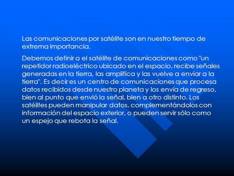 Las comunicaciones por satélite son en nuestro tiempo de extrema importancia.